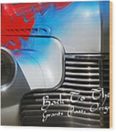 Hot Chevy Poster And Postcard Wood Print