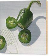 Hot Chili Pepper Wood Print