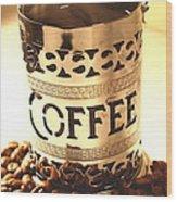 Hot Coffee Wood Print