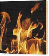 Hot Fire Wood Print
