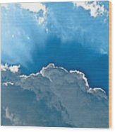 Hot Italian Clouds Wood Print