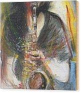 Hot Jazz Man Wood Print