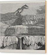 Hot Lakes Of New Zealand The Tattooed Basin Wood Print