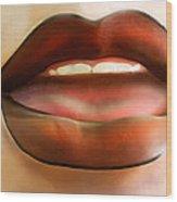 Hot Lips Wood Print
