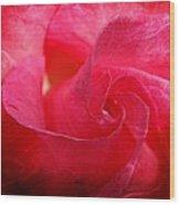 Hot Pink Rose Wood Print