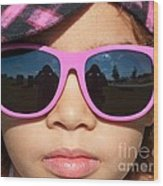 Hot Pink Sunglasses Wood Print