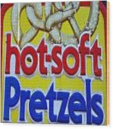 Hot Pretzels Wood Print by Skip Willits