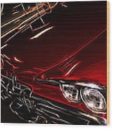 Hot Red Car  Wood Print