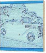 Hot Rod Digi Sketch Wood Print