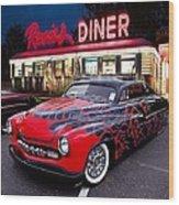 Hot Rod Diner Classic  Wood Print
