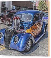 Hot Rod Car Wood Print