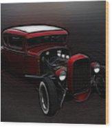 Hot Rod Ford Art Wood Print