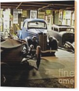 Hot Rod Garage Wood Print