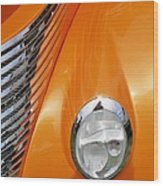 Hot Rod Headlight Wood Print