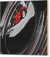 Hot Rod Hubcap Wood Print by motography aka Phil Clark