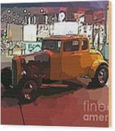 Hot Rod Icon Wood Print