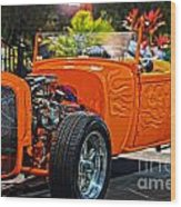 Hot Rod Wood Print
