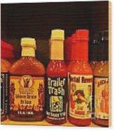 Hot Sauce Display Shelf Three Wood Print