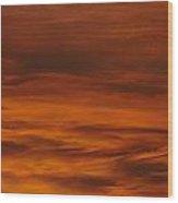 Hot Skies Wood Print
