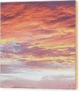Hot Sky Wood Print