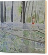 Hot Spring Bluebell Jogger Wood Print