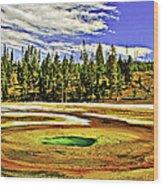 Prismatic Geyser Yellowstone National Park Wood Print