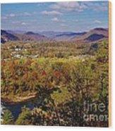 Hot Springs Overlook Wood Print