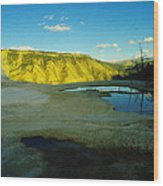 Hot Springs Yellowstone Wood Print