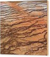 Hot Stones Wood Print
