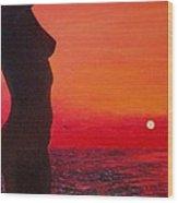 Hot Sunset Wood Print