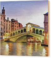Hot Venetian Nights Wood Print