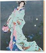 Hotarubi Wood Print