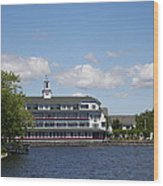 Hotel At Lake Winnipesaukee Wood Print