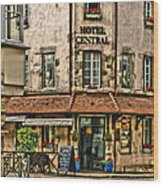 Hotel Central In Beaune France Wood Print