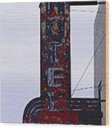 Hotel Club And Bar  Plentywood Montana Wood Print