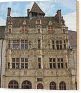 Hotel De Ville - Paray Le Monial Wood Print