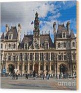 Hotel De Ville The Paris City Hall Wood Print