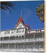 Hotel Del Courtyard View Wood Print
