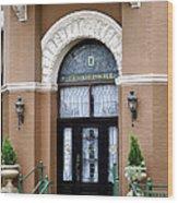 Hotel Door Entrance Wood Print