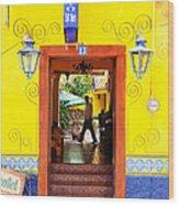 Hotel Estancia - Ajijic - Mexico Wood Print