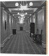 Hotel Hallway Wood Print