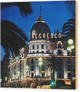Hotel Negresco Wood Print by Inge Johnsson