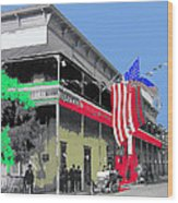 Hotel  Orndorff Colored American Flags Tucson Arizona Circa 1915-2012 Wood Print