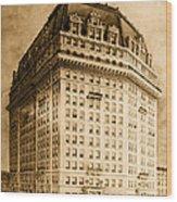 Hotel Pontchartrain Detroit 1910 Wood Print by Mountain Dreams