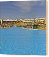 Hotel Resort Panorama Wood Print