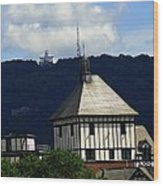 Hotel Roanoke And Star Wood Print