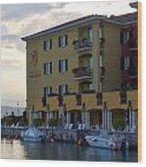 Hotel Sirmione. Lago Di Garda Wood Print