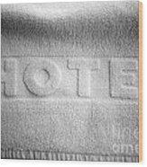 Hotel Towel Wood Print