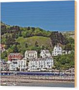 Hotels And Guesthouseson Great Orme Llandudno Wales Uk Wood Print