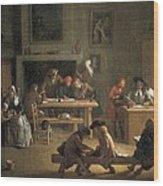 Houassemichel-ange 1680-1730. Interior Wood Print by Everett